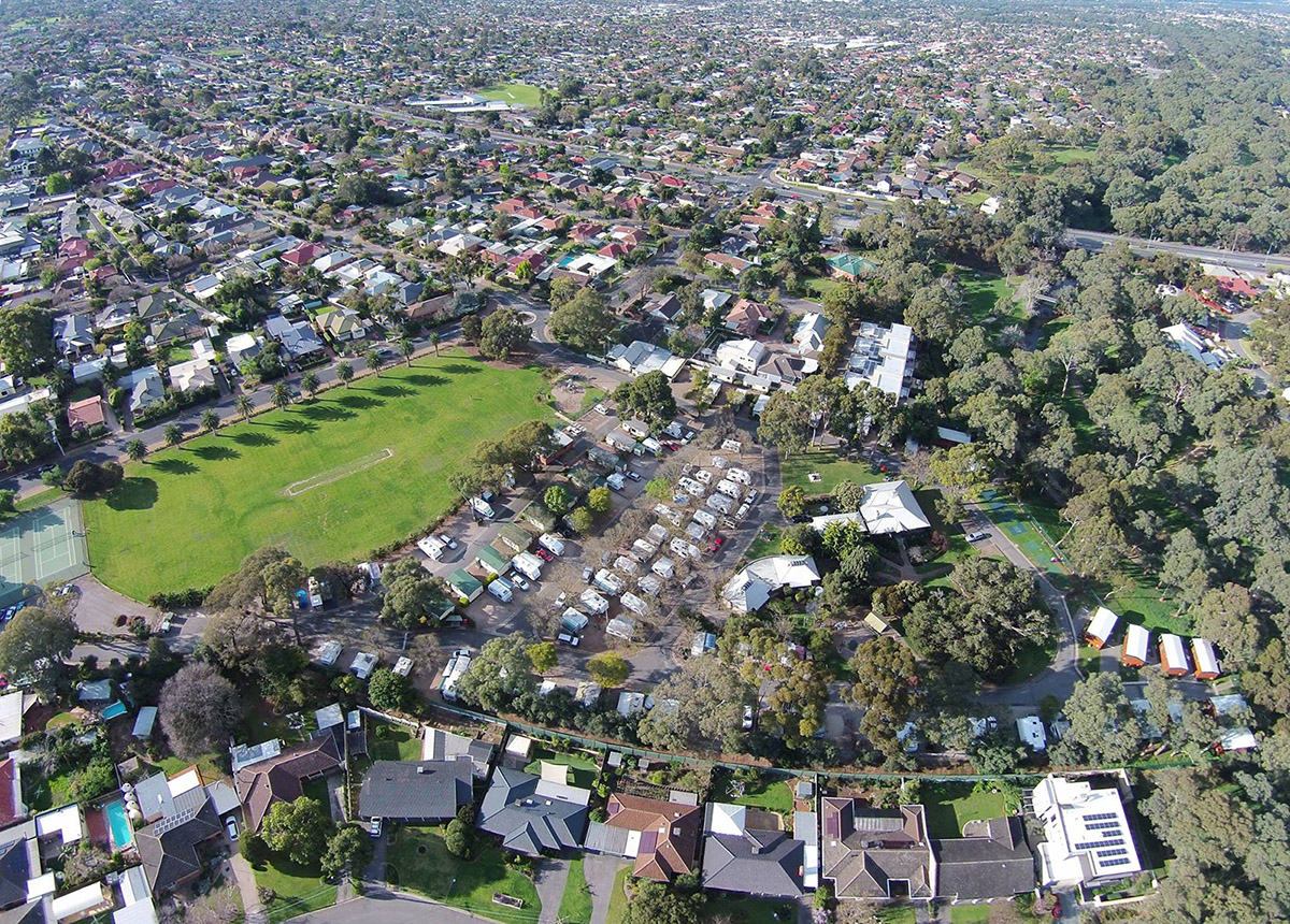 Levi Adelaide Holiday Park Aerial
