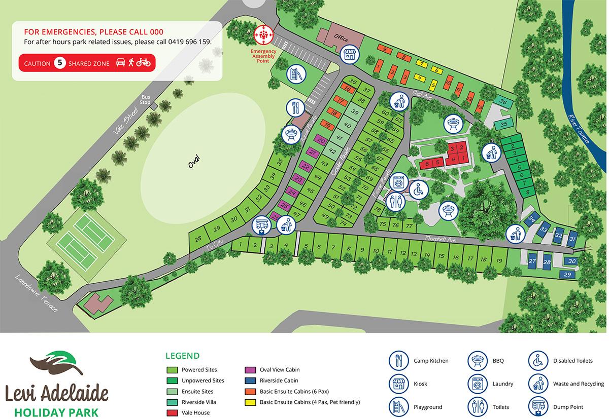 Levi Adelaide Park Map 2020-2